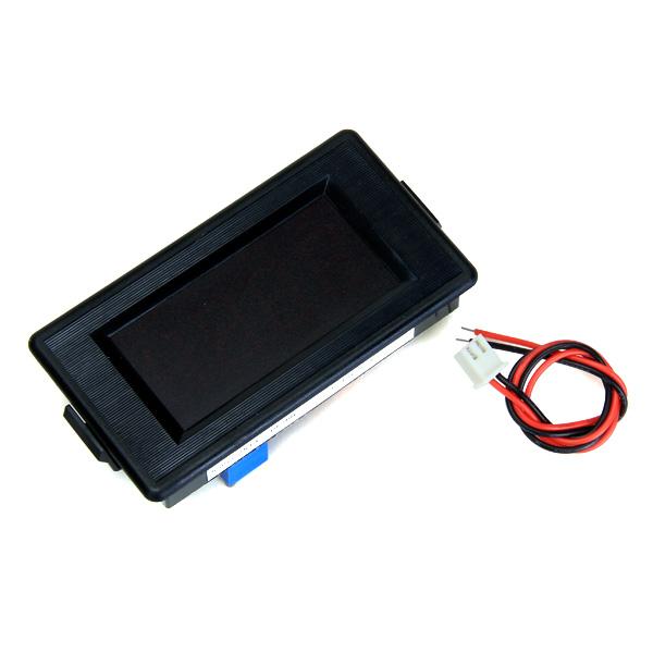 3 1/2 Digital Red LED DC 12V Two-line System Volt Voltmeter Panel Meter