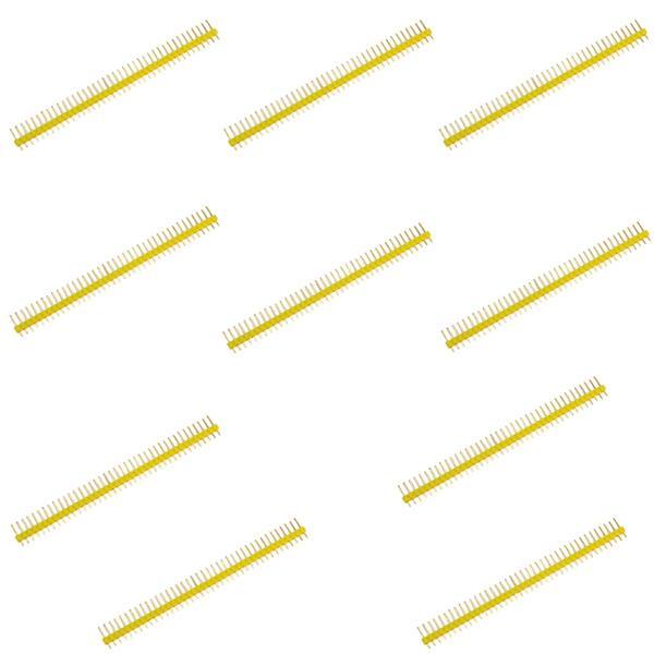 10pcs 40pin Single Row Pin Header Strip