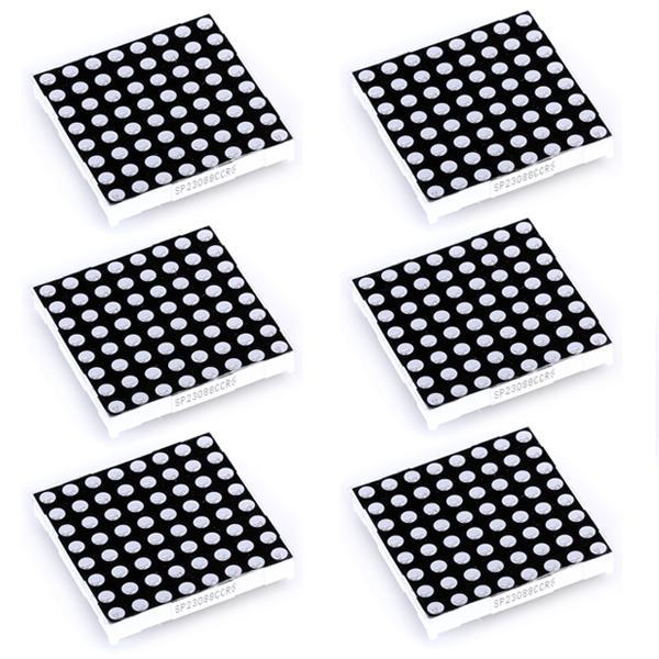 6pcs 8 x 8 Bicolor LED Dot Matrix Display Common Anode