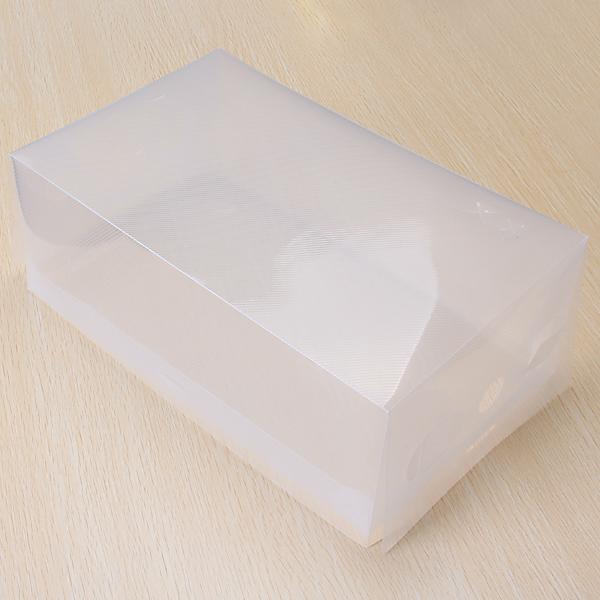 Foldable Plastic Shoe Box for Men - Transparent