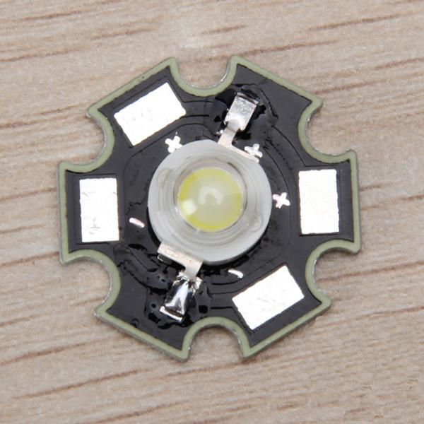 5pcs 1W High Power Star LED Light Lamp Bulb (White)