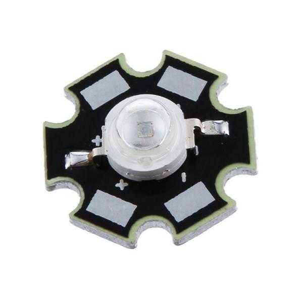 5pcs 3W High Power Star LED Light Lamp Bulb (Red)