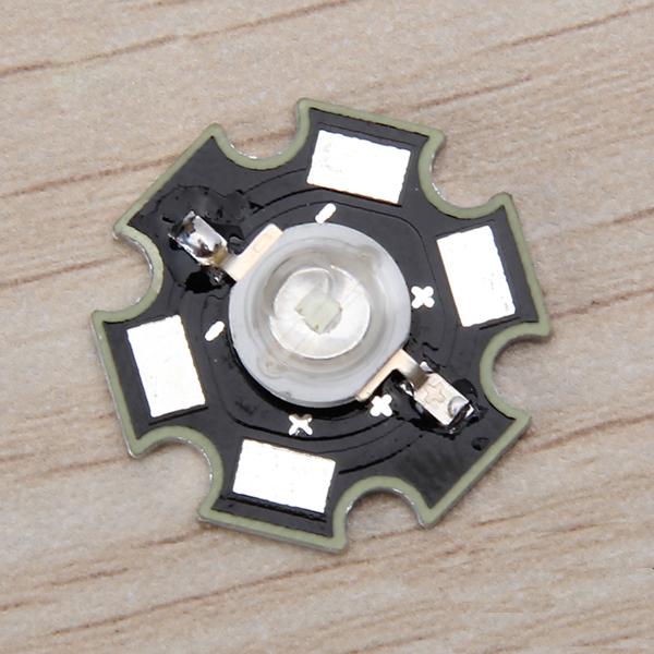 5pcs 3W High Power Star LED Light Lamp Bulb (Blue)