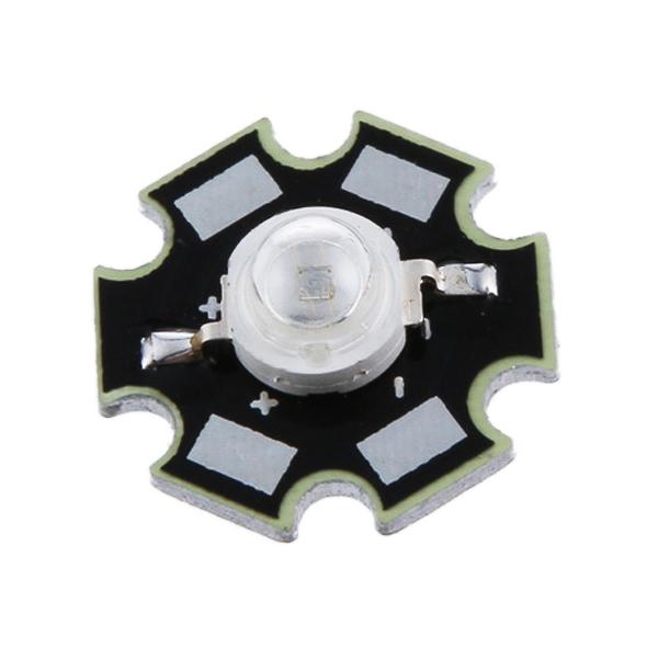 10pcs 3W High Power Star LED Light Lamp Bulb (Red)