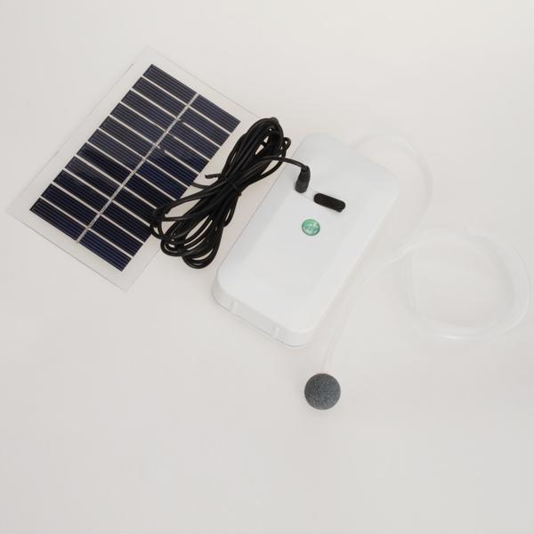 Portable Solar Oxygenator Pool Pond Air Pump Free Shipping