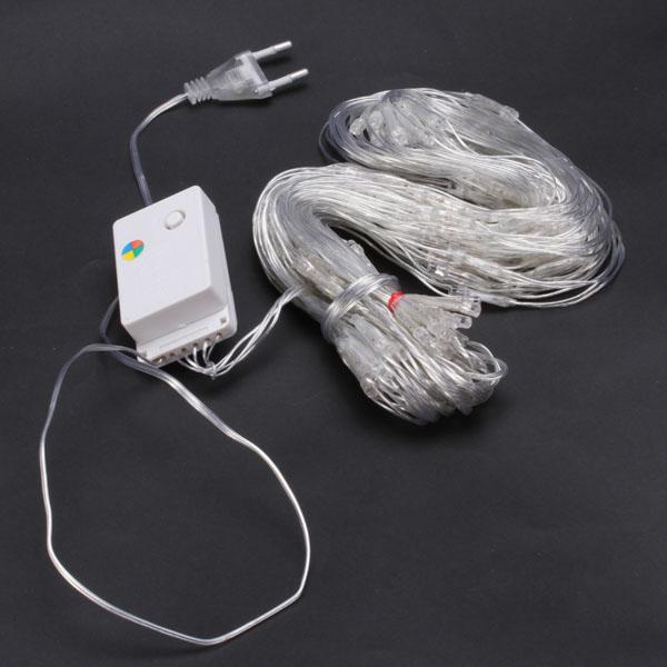 220V 120-LEDs 4-color Net Light String Lights for Christmas Wedding Festival - EU Plug
