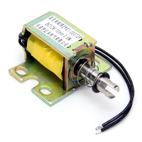 DC 12V Push Type Open Frame Solenoid Electromagnet (ZYE1-0837ZP)