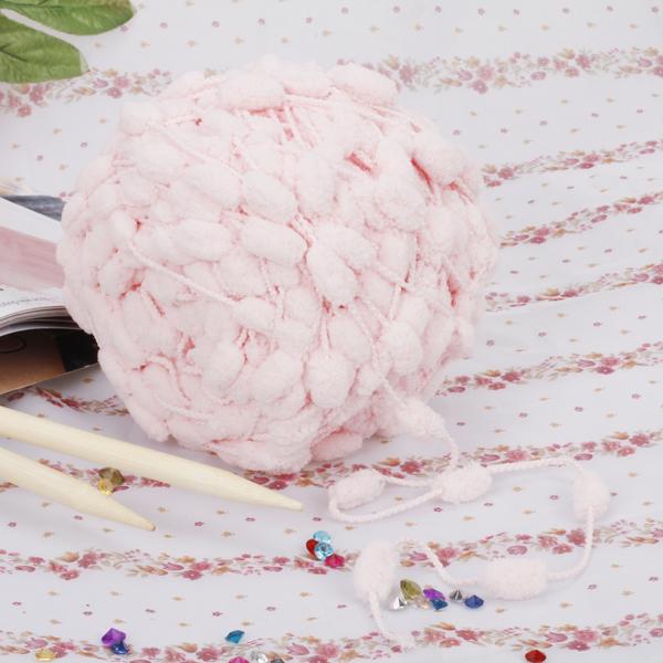Pink Knitting Yarn Pom Pom Yarn