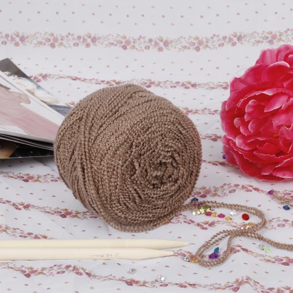 Soft Knitting Yarn Boucle Yarn - Dark Brown