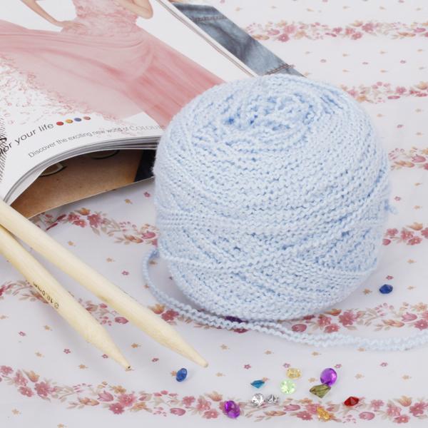 Soft Knitting Yarn Boucle Yarn - Light Blue