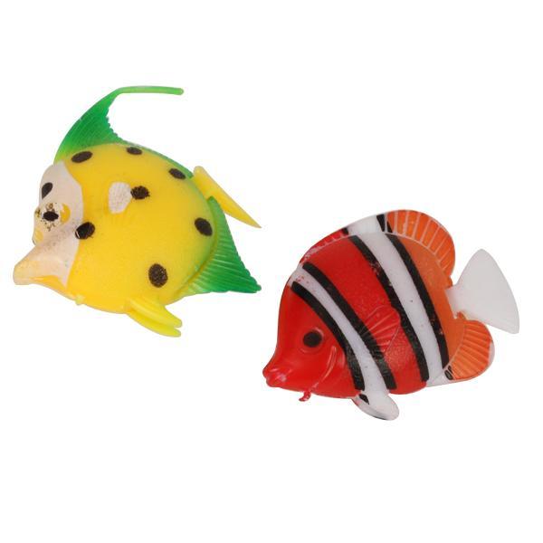 5pcs plastic artificial fish ornament for aquarium fish for Fake fish that swim