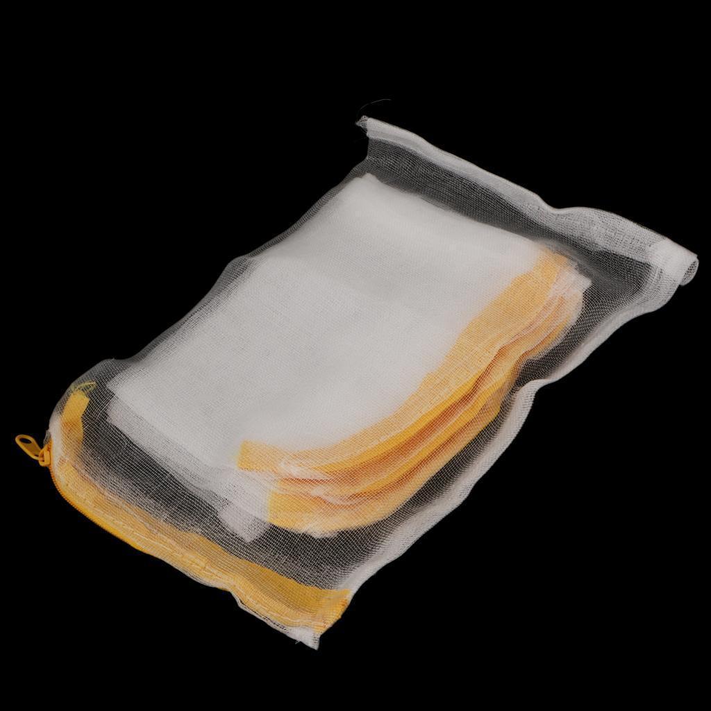 5pcs nylon mesh aquarium pond filter media bag w zipper for Pond filter mesh