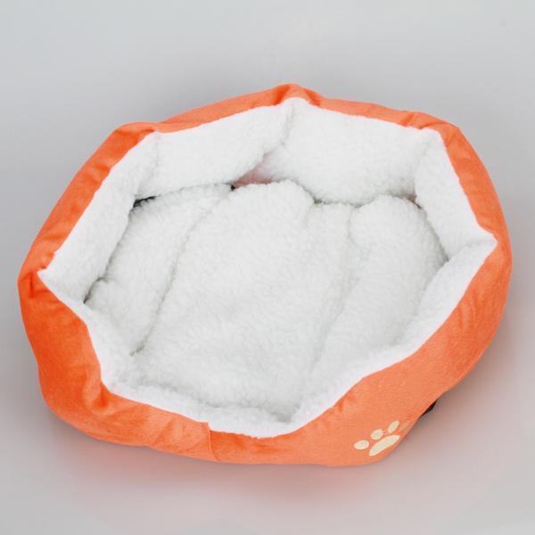 Pet Cat Dog Bed Pad Mat - Orange and White