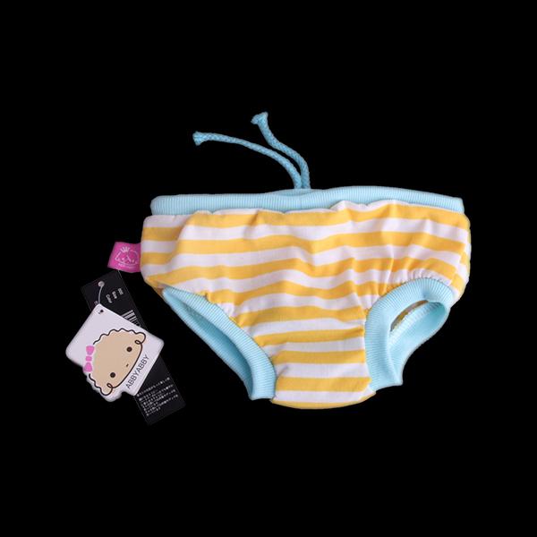 Female Pet Dog Sanitary Pant Panty Cotton Striped Diaper Brief - L