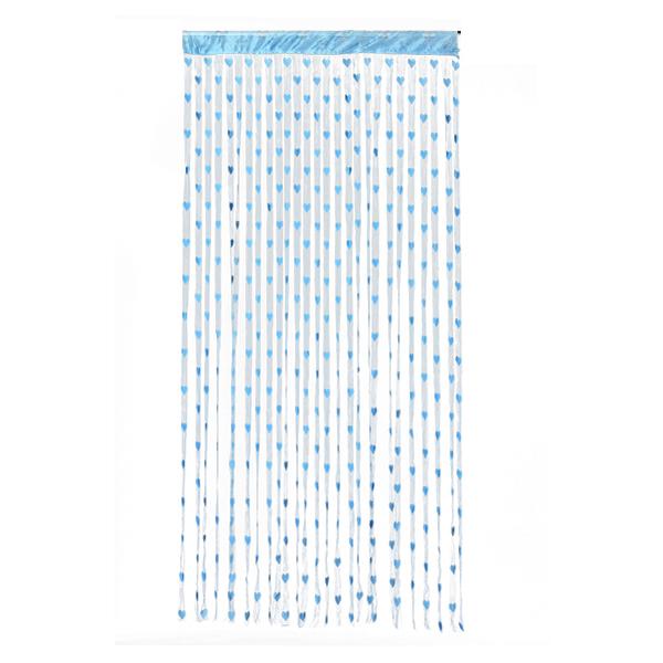 Heart Tassel String Door Curtain Door Hanging - Blue