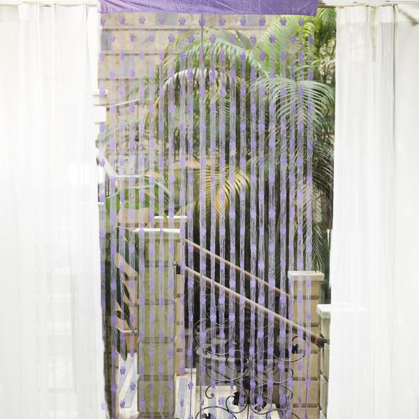 Butterfly Tassel String Door Curtain Window Room Divider - Purple