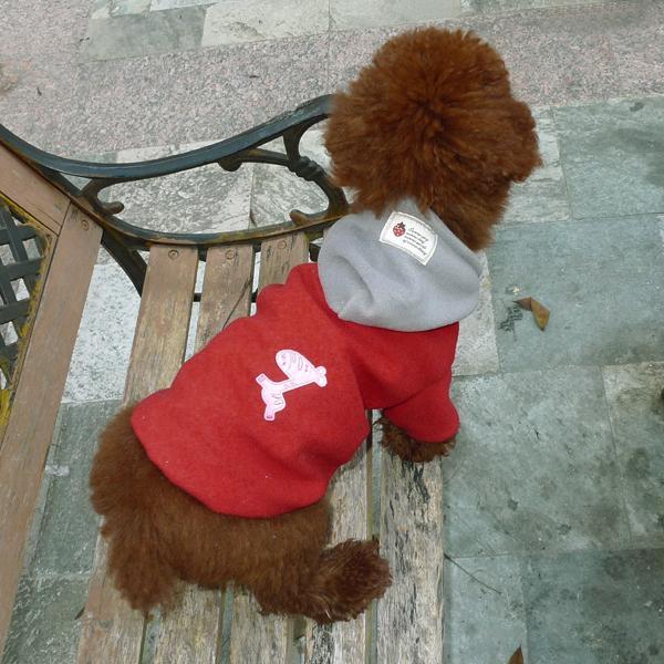 Pet Dog Spring Autumn Hoodie Coat Clothes Apparel Size M