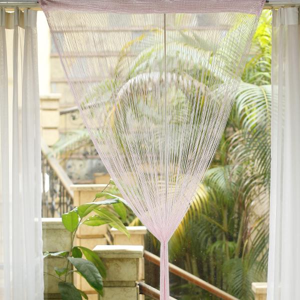 Fringe Window Divider Tassel Hanging String Door Curtain - Pink