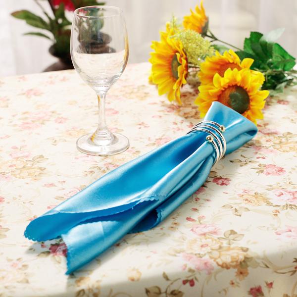 18x18 inch Square Satin Napkin Wedding Party Dinner Napkin - Blue