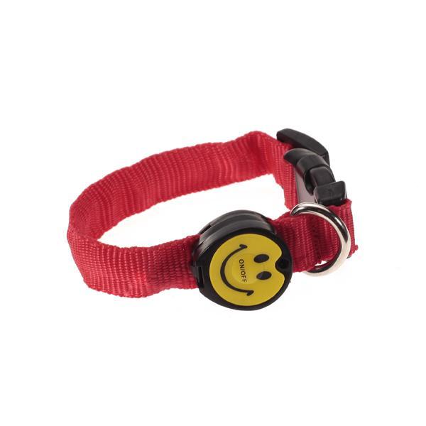 LED Flashing Safety Pet Dog Collar Red Light - Size M