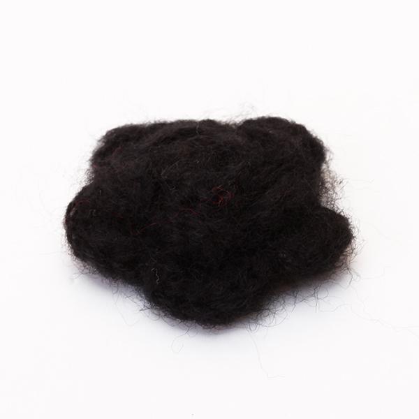 10pcs 3-layer Handmade Crochet Flower Appliques Sewing Craft - Black