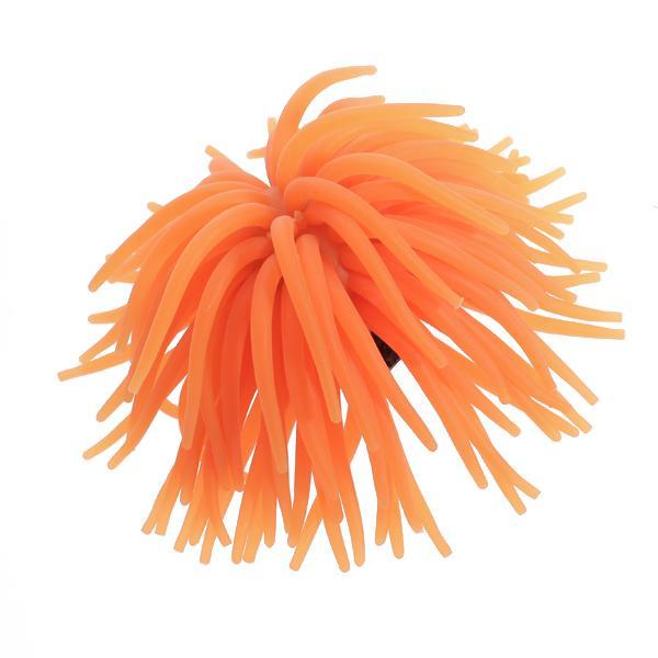 Orange Silicone Aquarium Fish Tank Coral Ornament