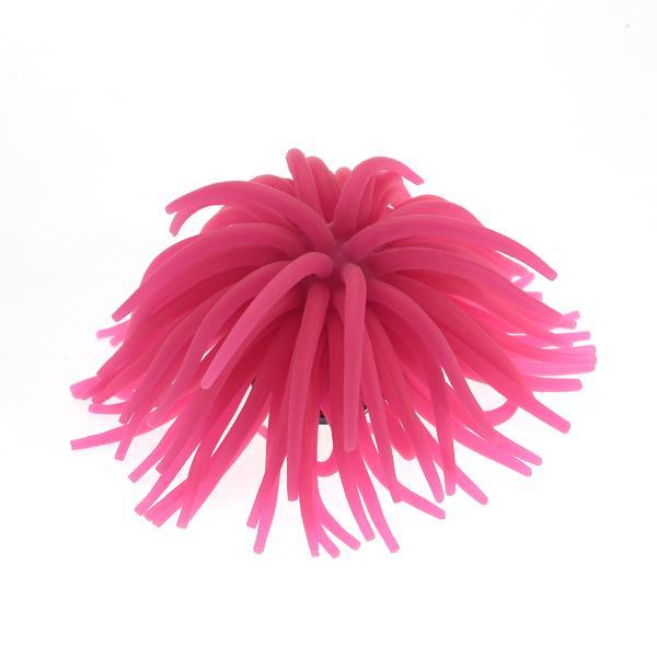 Hot Pink Silicone Aquarium Fish Tank Coral Ornament