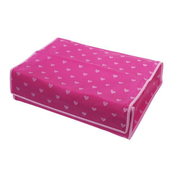Heart Pattern Folding 20 Cell Slots Underwear Ties Socks Storage Organizer Divider Box