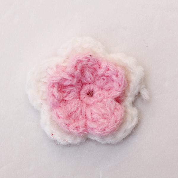 20pcs 5-petal 2-layer Handmade Crochet Flower Appliques Sewing Craft