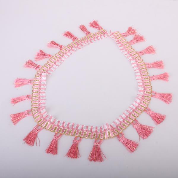 Tassel Fringe Trim Upholstery Trim Gimp - Pink