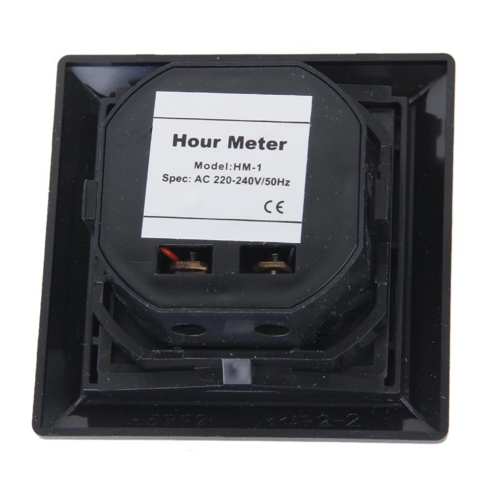 square non resettable quartz sealed hour meter gauge for. Black Bedroom Furniture Sets. Home Design Ideas