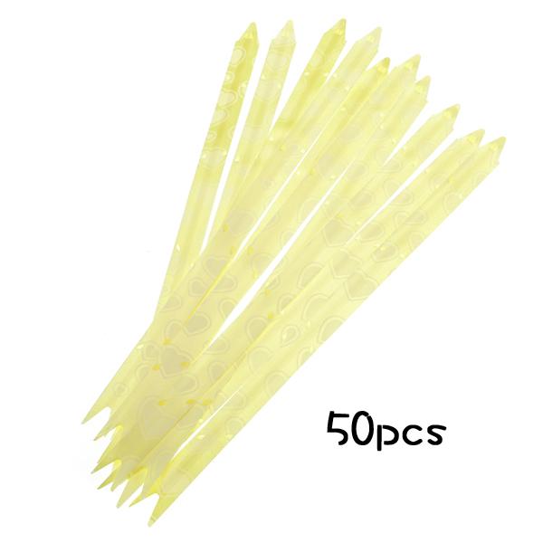 50Pcs 12 x 235mm Pull Flower Ribbon Bows Gift Wrap - Yellow
