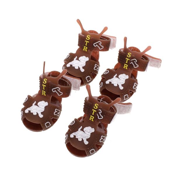 Velcro Strap Pet Doggie Dog Sandals Summer Shoes Size 2