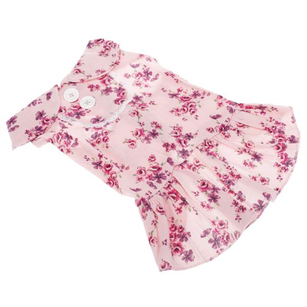 Pet Dog Floral Dress Clothes Apparel Size XXL - Pink