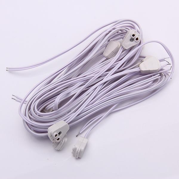 10pcs T5 Head Splicer Lamp Cable AC 100-250V
