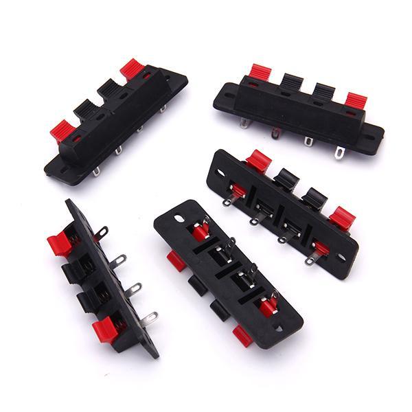 4-Pins 4 Positons Push Type Speaker Terminal Board