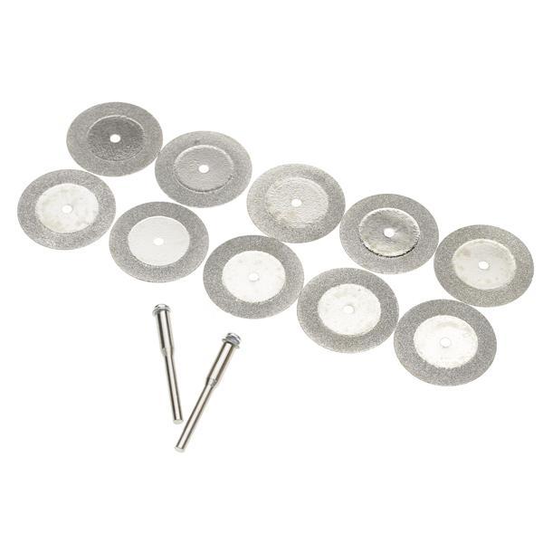 10pcs 25mm Diamond Cut Off Disc Wheel Rotary Tool w/ Arbor