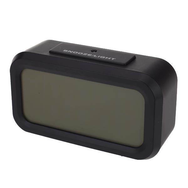 Snooze Large LCD Display Backlight Alarm Clock Black