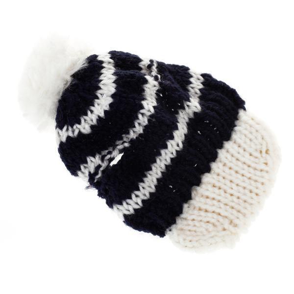 Hand Knitted Pet Dog Hat Crochet Winter Cap Size M