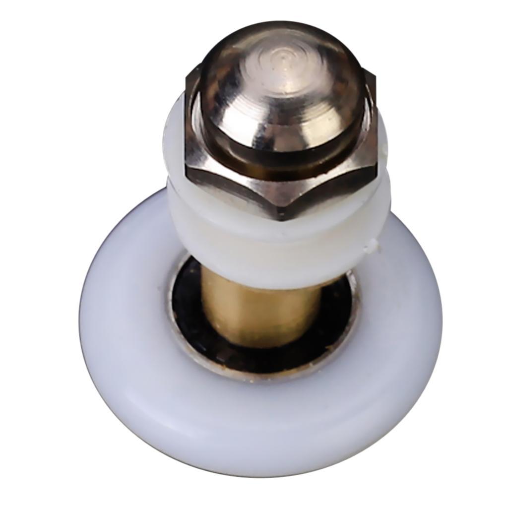 6pcs Shower Door Roller Runner Wheel 27mm Wheel Diameter