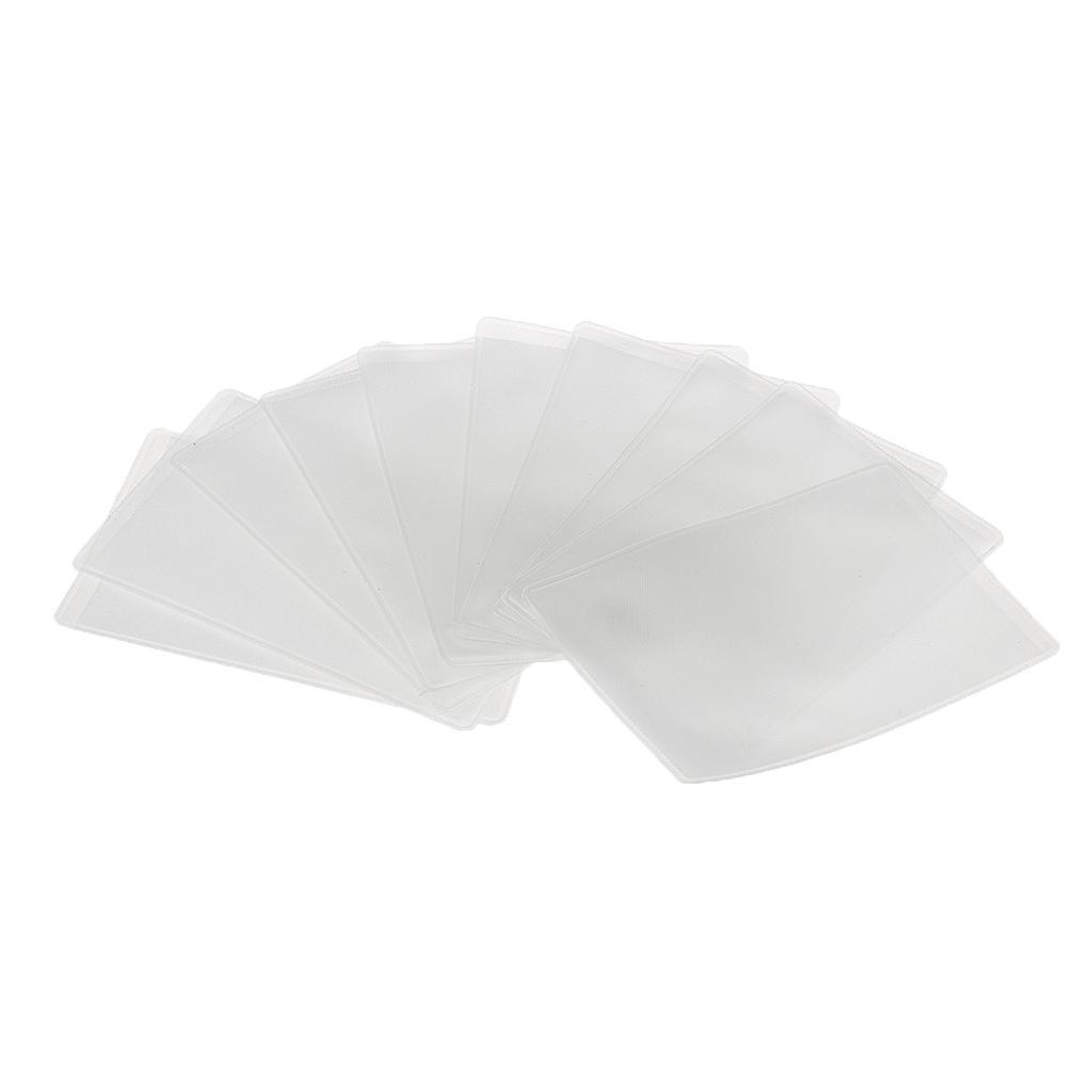 10pcs Soft Plastic Clear Sleeves Protectors