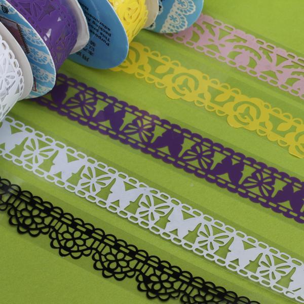 5pcs Lace Style Tape Sticky Adhesive Tape Trim Decorative Craft