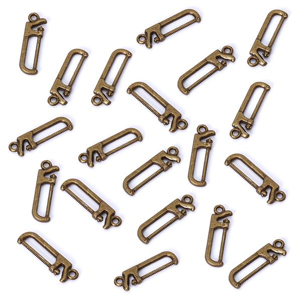 20pcs Bronze Tone Saw Charm Necklace Bracelet Pendant