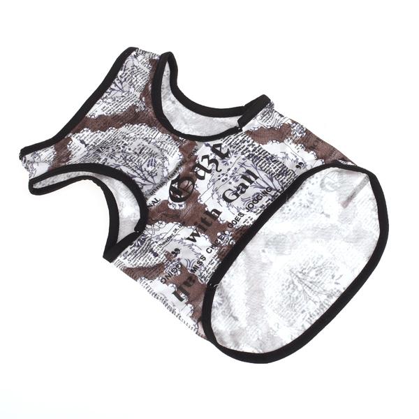 Cool Map Style Pet Dog Tank Tee Shirt Top Summer Apparel Size M