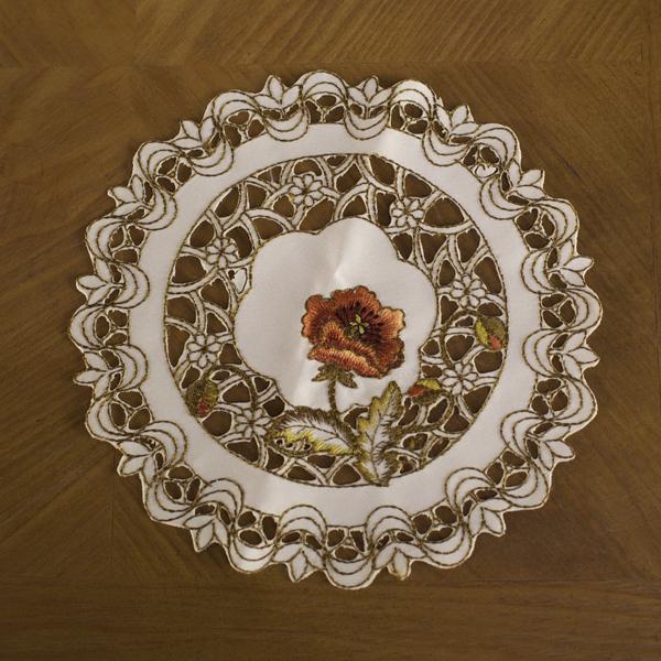 8 inch Round Flower Doily Placemat Centerpiece Coaster