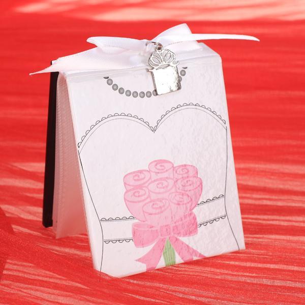 6x Bride Groom Mini Photo Album Wedding Favor