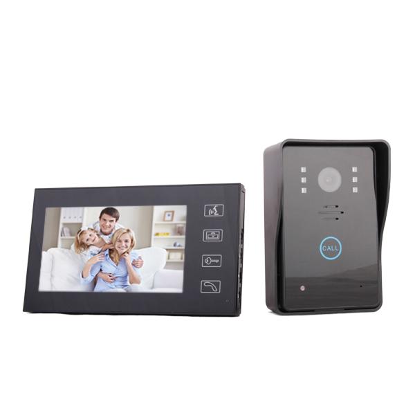 7 inch TFT Waterproof Night Vision Wired Video Door Phone - US Plug