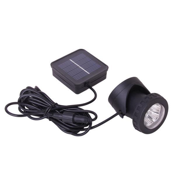 Solar Powered LED Spotlight Garden Lawn Pool Waterproof Spot Light