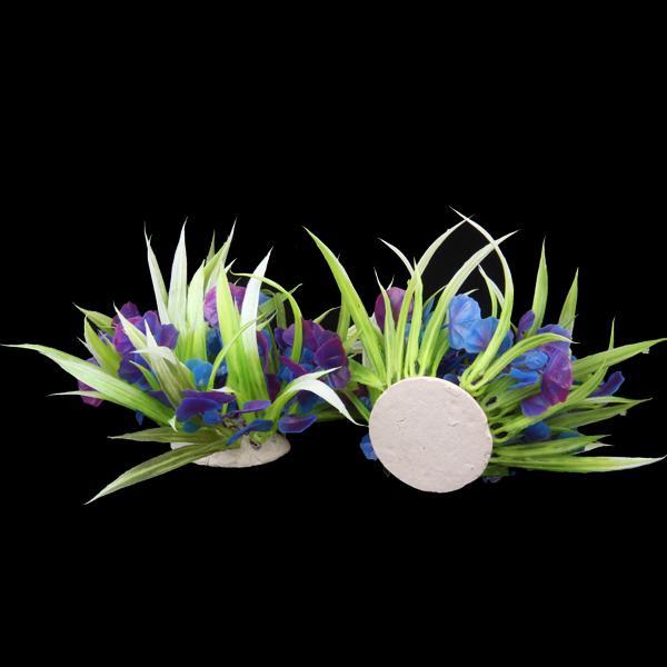 2pcs 10cm Plastic Aquarium Plants Ornament for Fish Tank