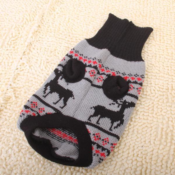 Black Turtleneck Pet Puppy Dog Sweater Clothes - Size L
